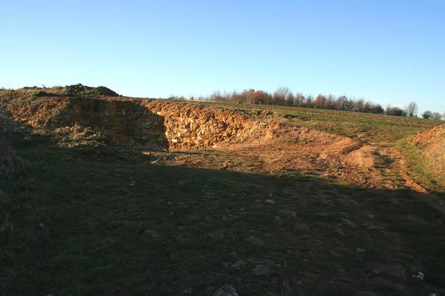 Small limestone pit near Irnham