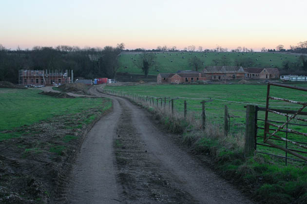 Dusk at Low Park Farm, Aslackby