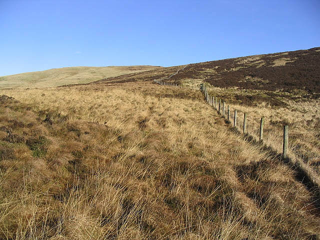 At the col between Arkleton Hill and Pike Fell