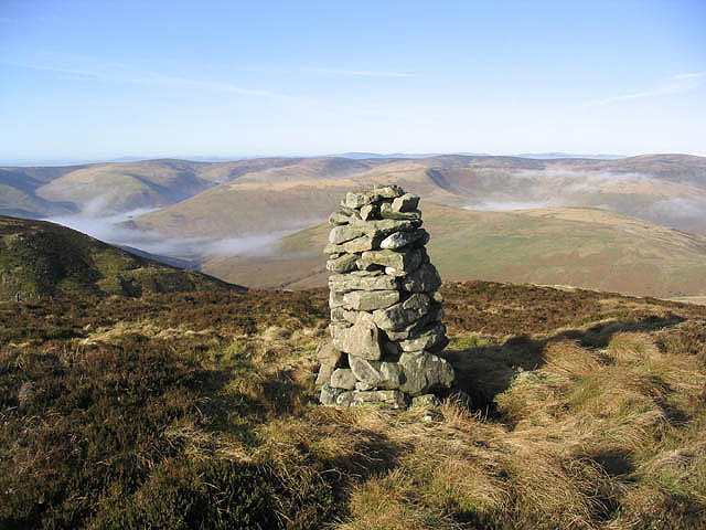 A cairn on Arkleton Hill