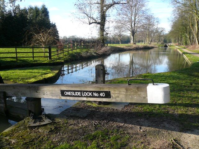 Chesterfield Canal - Oneslide Lock No 40