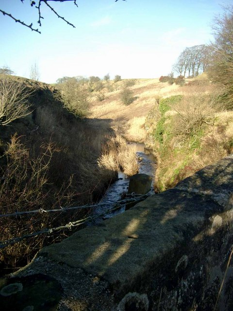 The Powmillon at Hapton Crags bridge