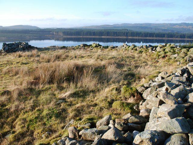 Dun above Loch Glashan
