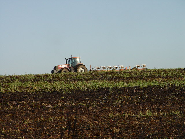 Ploughing on Horse Down