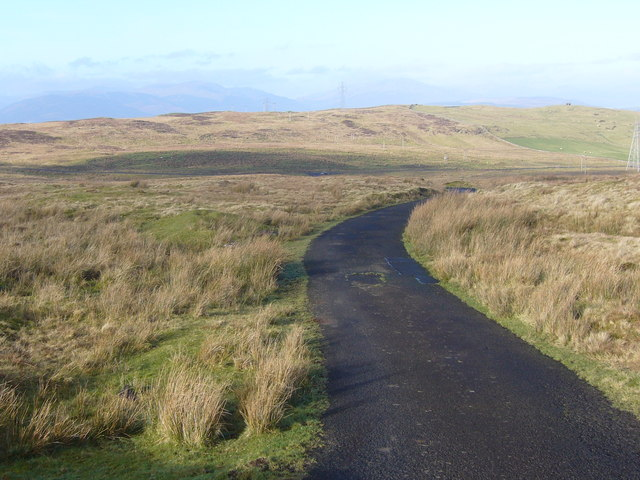 Private road on moor above Greenock