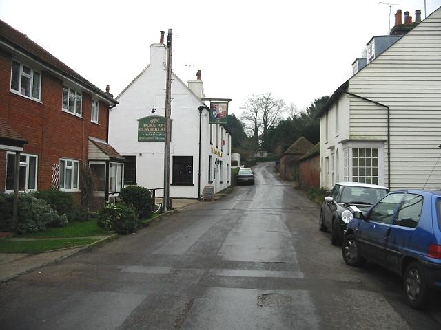 The Duke of Cumberland pub on The Street, Barham