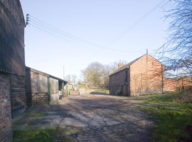 Bridleway through Freegreen Farm