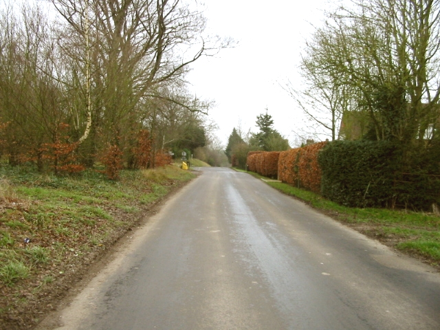 View along Church Lane towards Gravel Castle Road