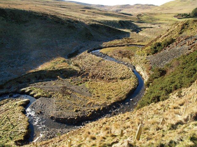 Meanders in the Sundhope Burn