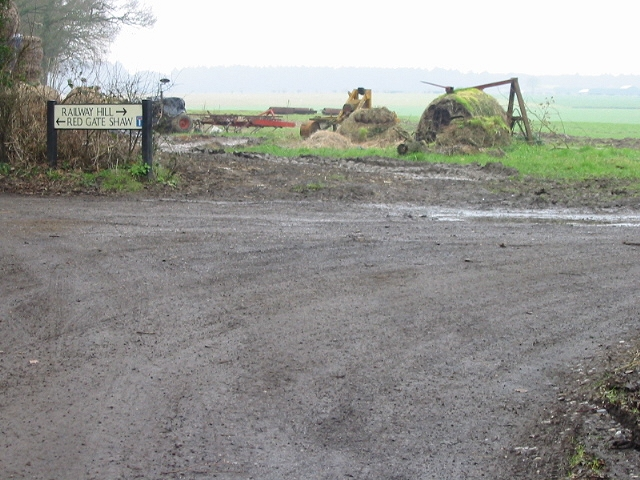 Muddy junction on Railway Hill