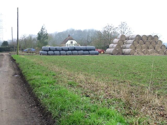 Straw bales on Little Westwood Farm