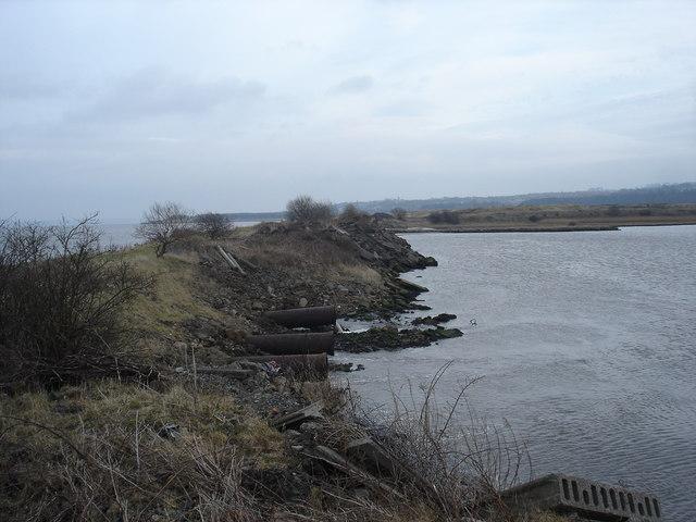 Man made Lagoon near Grangemouth