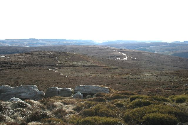 Round Hill and the Derwent valley from the Barrow Stones