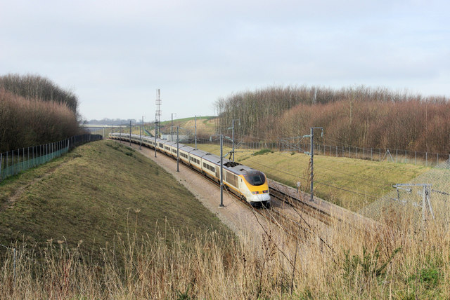 A Eurostar Cresting the Hill