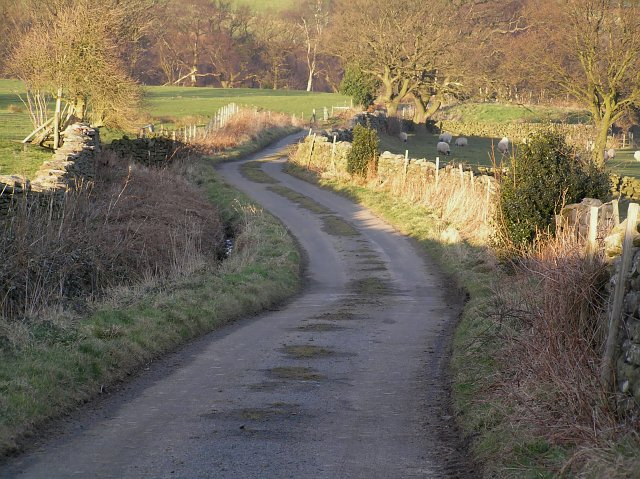 The road to Hollin House Farm