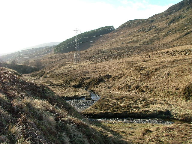 Moorland and the Allt  Glengoulandie