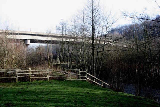 Bridge over the A483