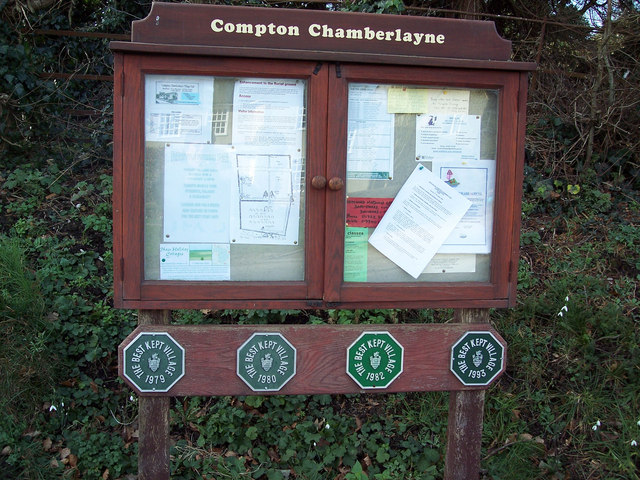 Compton Chamberlayne Village Noticeboard