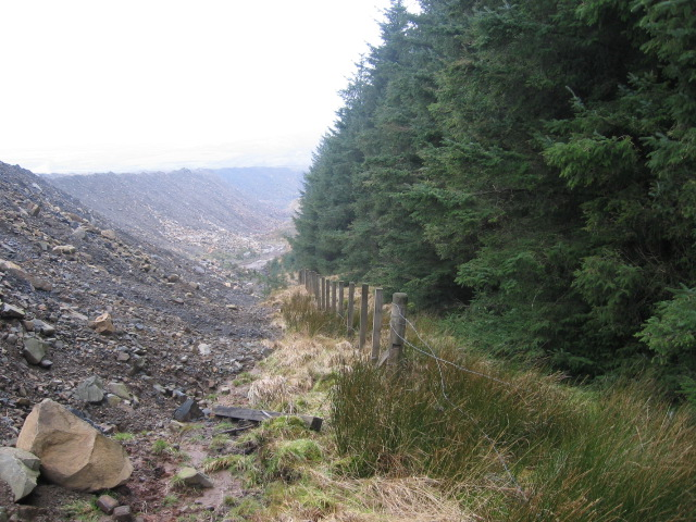 Edge of Glenbuck opencast site