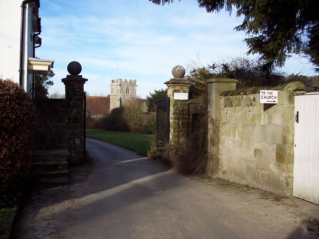 Entrance to Compton Park and Gate to St Michaels Church