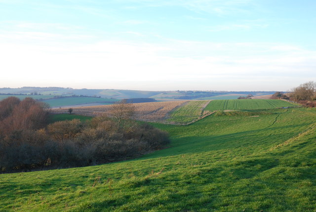 Downland above Ebbesbourne Wake