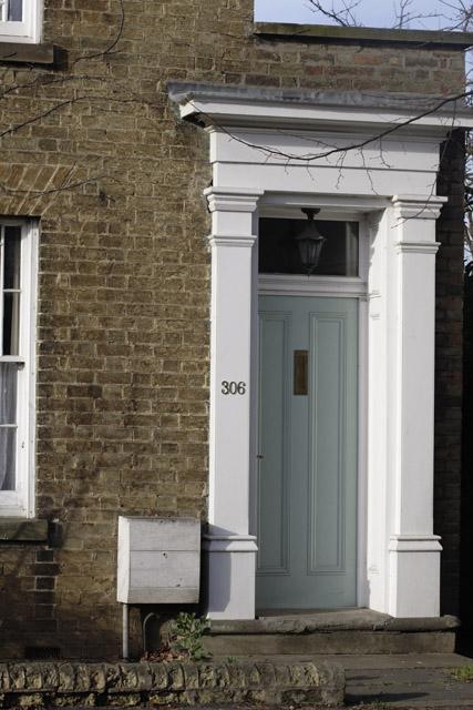 Door detail, 306 High Street, Cottenham, Cambridgeshire