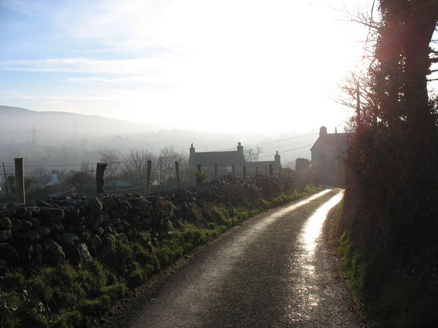 The houses at the top of Allt Pont-rhythallt