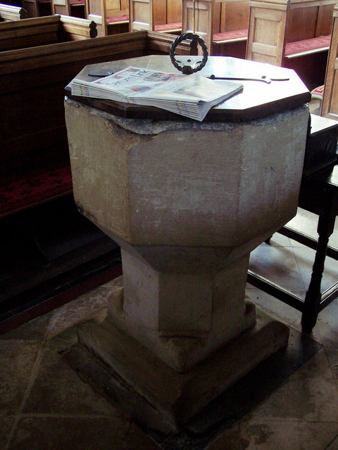 13th Century Font, St Michaels Church