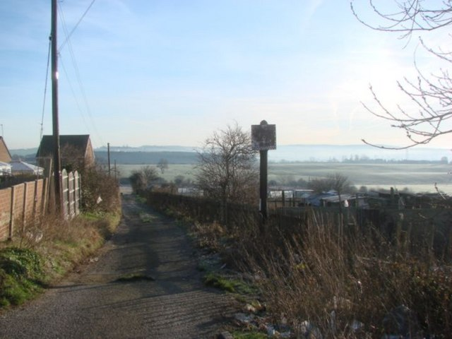 Footpath to allotments, Upper Cudworth