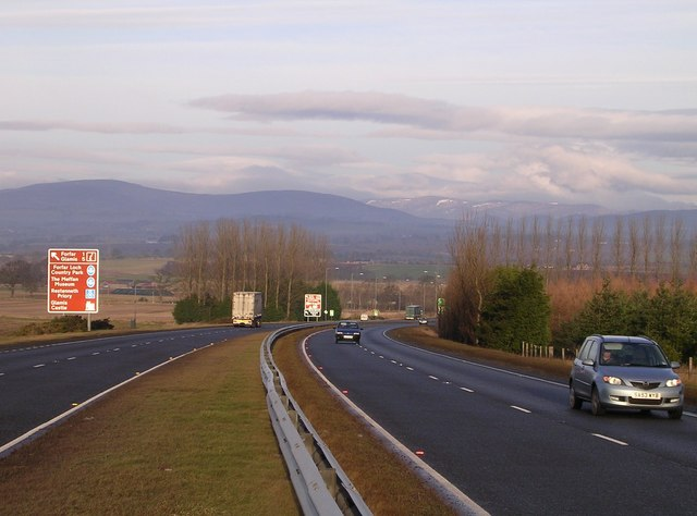 Looking North up the A90