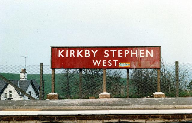Kirkby Stephen West Station sign