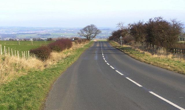 Lane : north east of Woodland
