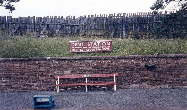 Dent Station sign