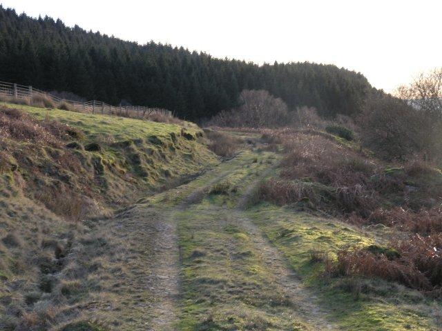 A farm track on Pen-Y-Graig