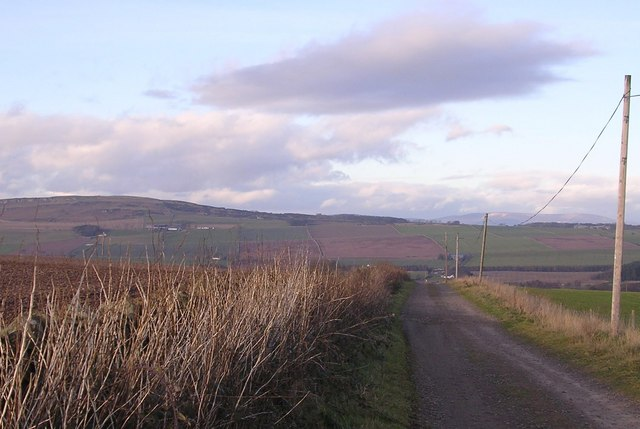 Looking North along track to Newmill and Balgavies Loch