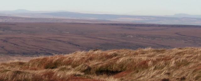 Yorkshire Three Peaks from Bleaklow, Peak District