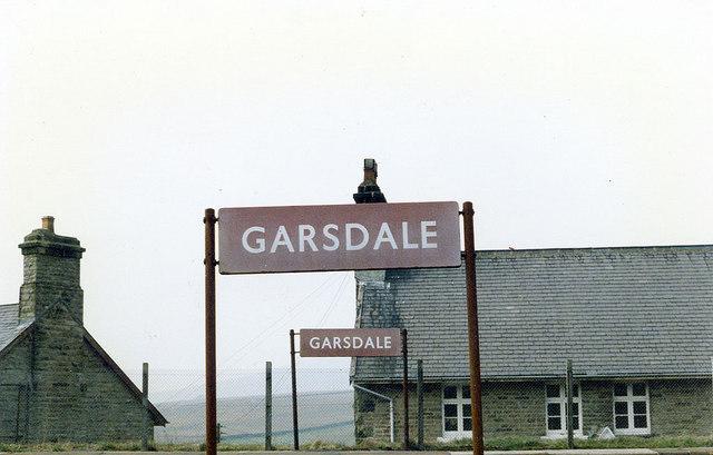 Garsdale Dale Station sign