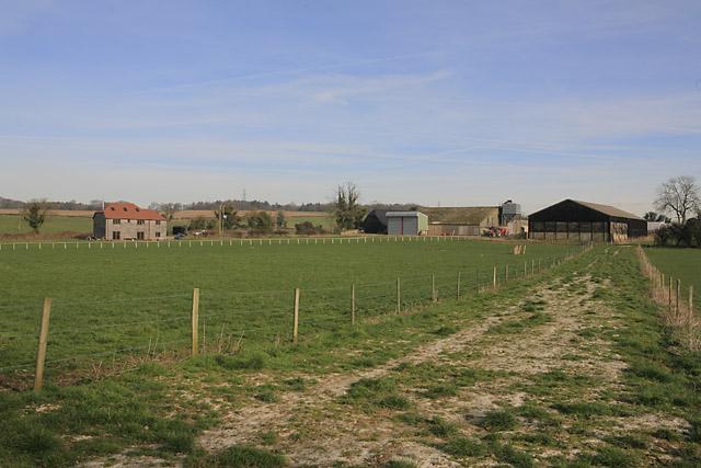 Middle Farm, Chertiton seen from Hinton Lane