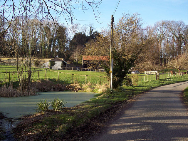 Stables, Paddock and Village Pond, Baverstock