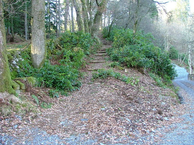 Footpath and Steps to Corbenic Camphill Community