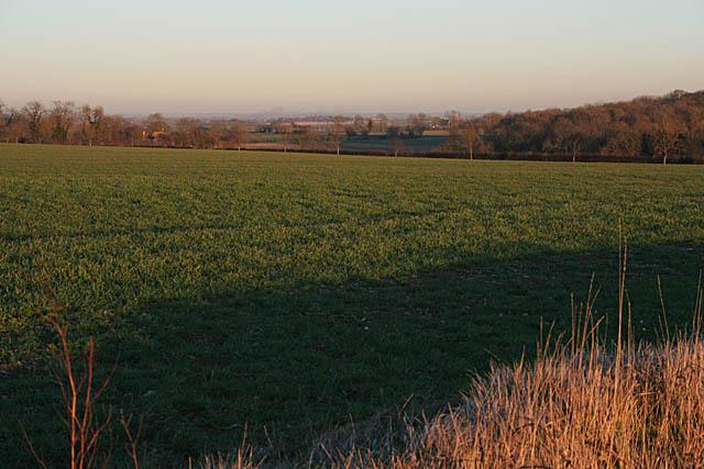 Lincolnshire farmland near Folkingham
