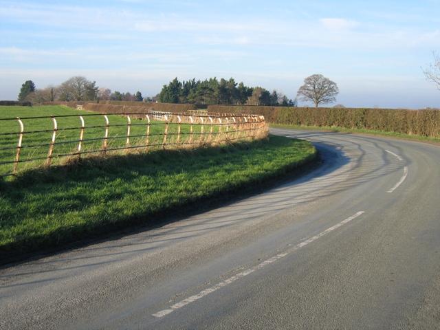 Corner in the Road near Caldecott Hall