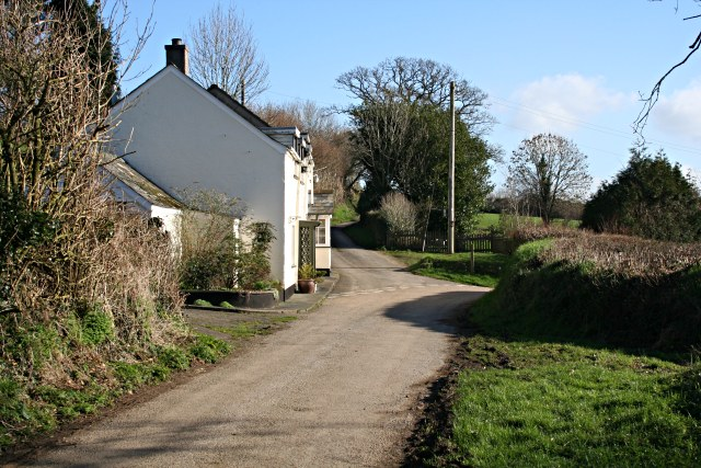 A White Cottage at Lewcoombe