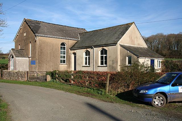 Broadwoodkelly: Methodist church at Splatt