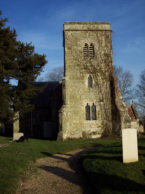 Tower of St Editha Church, Baverstock