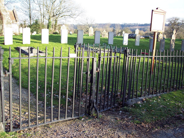 Gates and Graves at St Editha, Baverstock