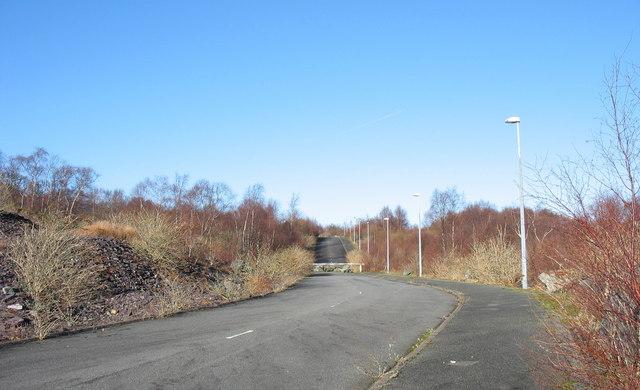 An anti-traveller road block