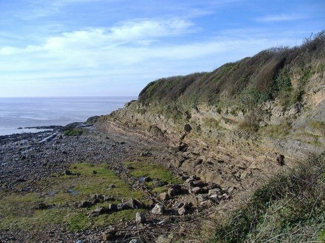 Cliff, near Battery Point