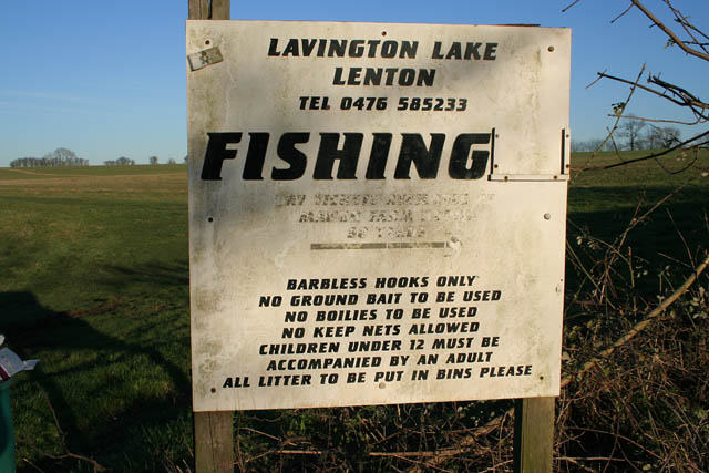 Sign at Lavington Lake