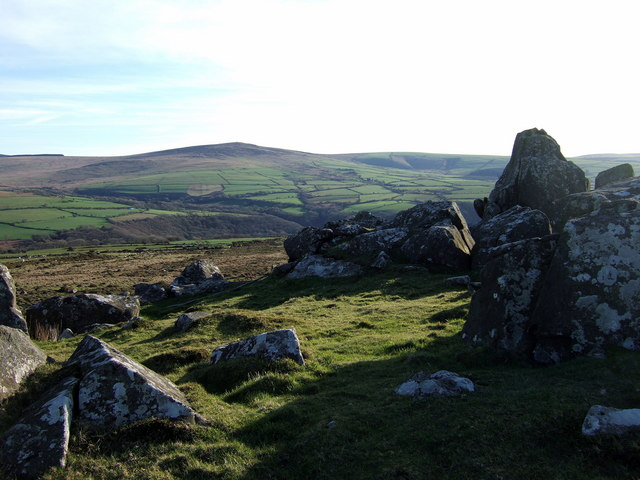 Carn Edward with view to Cerrig Lladron